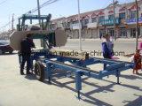 ログの切断バンドは移動式木製の製材所機械を見た