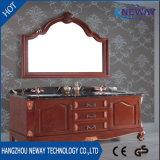 Antique Design Floor Standing Batedor de banheiro em madeira sólida Vanity