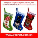De Kerstman, Sneeuwman, Kous van de Decoratie van Kerstmis van het Rendier de Hangende