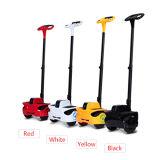 Scooter coloré d'équilibre d'individu de poignée de roues en gros du blanc deux pour des adultes