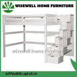 Pine&#160 solide ; Plein bâti de couchette jumeau en bois avec l'escalier et le tiroir