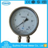 150mmの工場価格の高品質の差動圧力計の差動圧力計