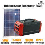 central eléctrica portable 270wh con el panel solar 50W