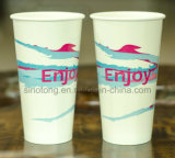 El PE doble frío de las tazas de papel de la bebida 16oz 20oz