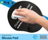 Gel confortável almofada de rato enchida projetada ergonómica do jogo