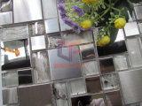 Серебряная нержавеющая сталь стороны зеркала и стороны молотилки смешанная с кристаллический мозаикой (CFM1015)