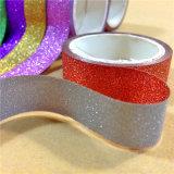 papel pegajoso de Washi del brillo de los 4m que enmascara la escritura de la etiqueta de la cinta adhesiva
