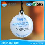 Etiqueta pequena do metal RFID NFC do logotipo de Customed anti