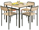 Metal Frame를 가진 군매점 Table Furniture 4 Seaters Dining Table