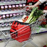 Fördernde kundenspezifische Firmenzeichen-mehrfachverwendbare nicht gesponnene Einkaufstasche für Supermarkt