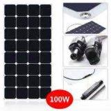 corte semi flexible de la célula solar de Sunpower del panel solar de la energía solar de 100W 18V