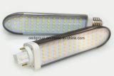 8W lámparas del G-24 Pl LED con el radiador del aluminio 85-265VAC