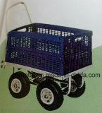 4 едока покупателей бакалеи колес складывая тележки вагонетки