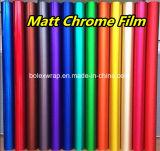 Película mate del cromo de las etiquetas engomadas autas-adhesivo del abrigo del coche de Rolls del vinilo del PVC de la alta calidad el 1.52X20m