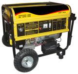 générateur portatif d'essence des fils 6kw de cuivre avec les roues (PFG7500)