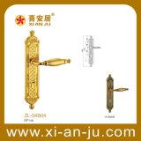 Cerradura de puerta de cobre amarillo de la manija de la mortaja de lujo de la serie de Zl (ZL-04B04)
