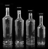 bouteille en verre de vin 1000ml de vodka en verre de bouteille avec le chapeau