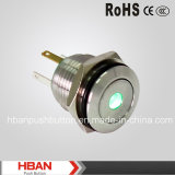 CE RoHS 16mm Push Button avec le Point-Illuminated