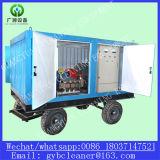 배 선체 표면 세탁기술자 디젤 엔진 고압 물 모래 분사 기계