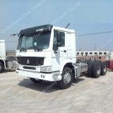 HOWO 6X4 336HP ließ Handlaufwerk-Traktor-LKW-Lieferanten der Dangote Gruppe, Handtraktor Dubai-zweite