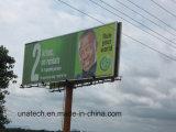 스포트라이트로 비추는 광고 Aluninium 옥외 프레임 LED PVC 비닐 쌍방 세 배 비전 게시판 Signage를 미끄러지기