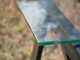 2つの穴が付いている10mmの平らな磨かれた棚の緩和されたガラス