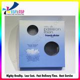 O azul bonito da forma vê o caso de empacotamento cosmético da impressão