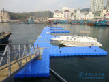 Hecho en embarcadero de flotación plástico de China