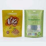 Lati della plastica tre che sigillano il sacchetto dell'alimento secco chiusura lampo risigillabile