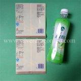 Étiquette en plastique de chemise de rétrécissement pour la bouteille de jus