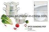 Il Cookware economizzatore d'energia del POT del POT di alluminio rivestito di ceramica antiaderante della salsa imposta Sx-A004