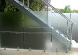 테라스를 위한 스테인리스 마개를 가진 Frameless 유리제 난간 또는 발코니 또는 베란다