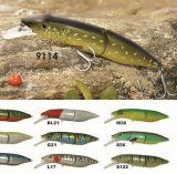 110mm flottant l'attrait de pêche de Pike d'une première le prix bon marché usine --- La qualité a fait Crankbait de pêche en plastique dur fait sur commande - Wobbler - attrait de pêche de Popper de cyprins