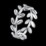 Monili dell'anello semplice della barretta di figura della filiale dell'argento sterlina 925