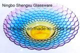 Plaat sx-010 van het Fruit van het Glas van het Kristal van de Kleur van het Ontwerp van 100% No-Lead Nieuwe