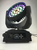 이동하는 맨 위 빛 36X10W RGBW 4in1 LED 급상승