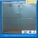 Vidrio helado grabado al agua fuerte ácido de cristal decorativo para la puerta del cuarto de baño, Windows, puertas interiores