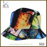 Sombrero floral del compartimiento del lazo del algodón colorido de encargo del tinte