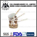 aquecedor personalizado logotipo do café do esmalte da porcelana 3PCS com punho longo