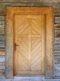Completo Puerta de madera maciza natural con alta calidad