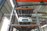 Elevador pesado hidráulico do carro do cilindro da capacidade de carregamento quatro