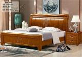 Китайская мебель спальни древесины дуба, деревянная кровать гостиницы (803)
