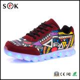 Sek Lightup adultos Intermitente para hombre de simulación de luz LED hasta zapatos con cordones