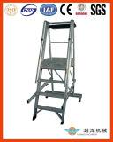 Escada móvel de Castellar da etapa de alumínio (CL)