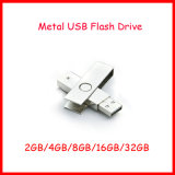 Movimentação do flash do USB do giro do retângulo do metal da vara do USB de Pendrive