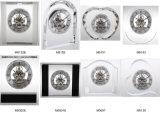 水晶置時計および机のクロック、花の形の水晶置時計