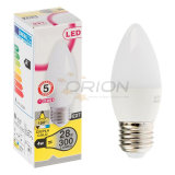 Mini LED bulbo certificado Ce de la vela 5W C37 LED del bulbo de E27 E14