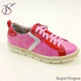 Drei Farben-Form-Freizeit-Frauen-Dame Shoes mit Flachs Ab17s08-003-Fuxia