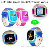Perseguidor barato do relógio dos miúdos do GPS com a tela 1.44inch colorida (Y9)