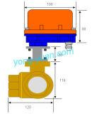 Tipo motorizzato ottone a tre vie della valvola a sfera Dn50 L/T (BS-898-50S-2)